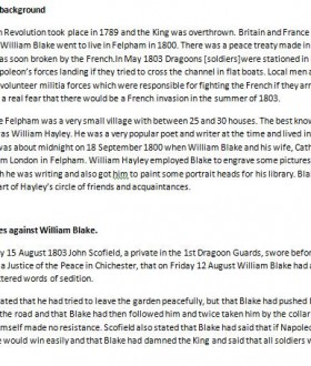 Felpham Blake Research