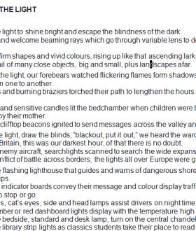 TURN ON THE LIGHT by Nicholas Prosser