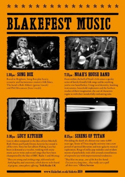 Blakefest 2019 programme poetry