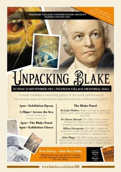 BlakeFest 2019 unpacking blake programme