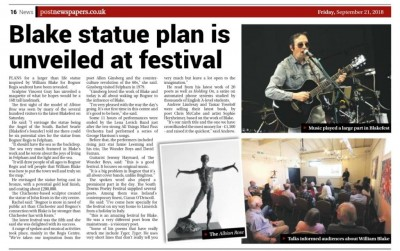 This wonderful review of our 2018 event appeared in the Bognor Post newspaper.