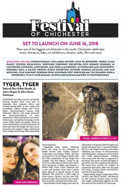 Presspreview of Deborah Rose gig as part of Fest of Chichester for BlakeFest
