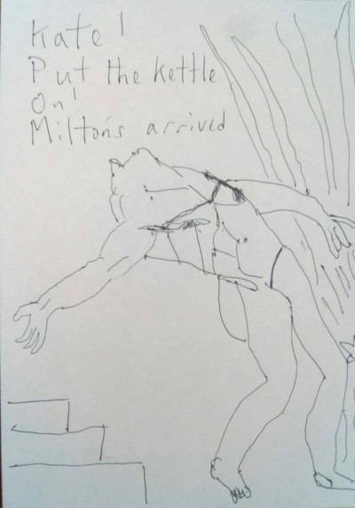 Steve Micalef's minibook about Blake and Hayley & The Felpham Poems. Hand-drawn by Blake Aficionado, Micalef... a wonderful, talented character and poet/artist who has shown us lots of support over our events.