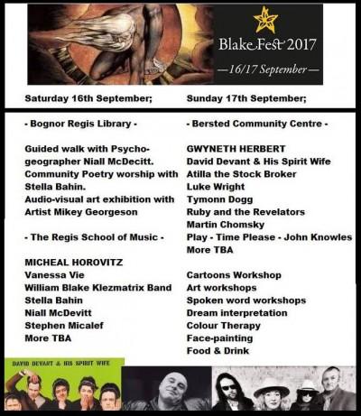 Basic outline for BlakeFest17