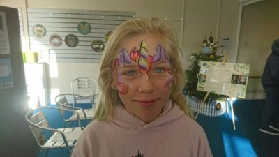 Another fabulous facepainting creation by Elissa Barrett.