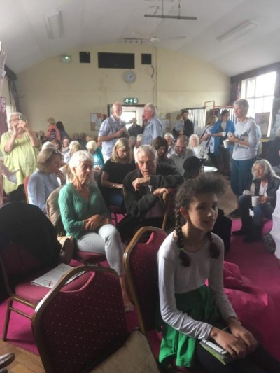 Unpacking Blake, at Blakefest 2019, held at Felpham Memorial Hall, included an art exhibition featuring installations by Dr Mikey Georgeson, live music from Across The Sea and a panel of speakers presenting different aspects of William Blake's visionary genius.